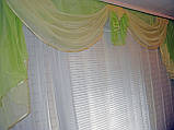 Ламбрекен №52 на карниз 3 метри Салатовий з лимонним, фото 2