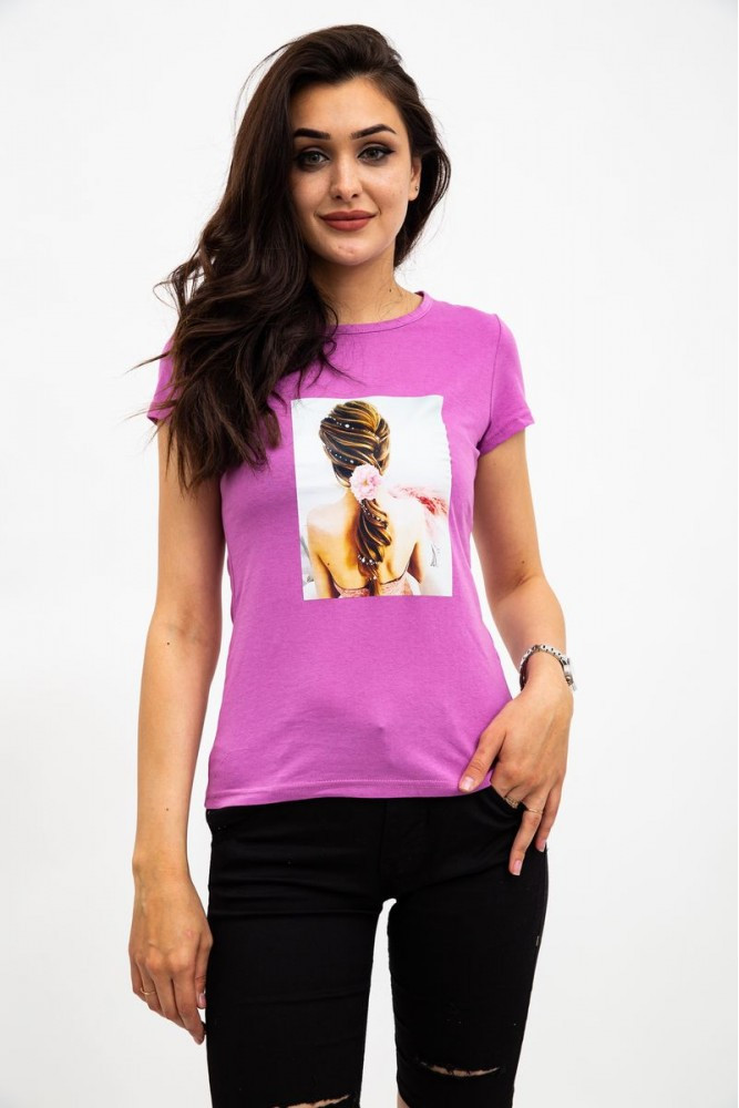 Футболка женская цвет Фиолетовый