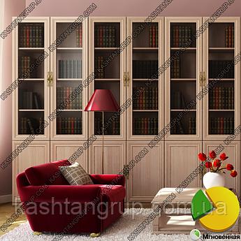Книжный шкаф для гостиной Ш: 2400 мм, Г: 285 мм, : 2030 мм