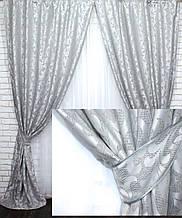 """Комплект готовых штор из ткани лён """"Вензель"""" 534-18"""