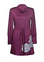 Платье МАКИ,классика,ворот,французский трикотаж.
