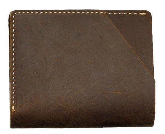 Бумажник матовый Vintage 20064 Коричневый