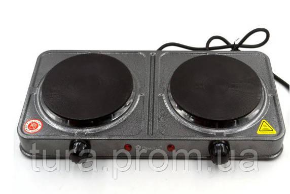 Электроплита Плита Настольная Дисковая На 2 Конфорки Domotec MS-5822