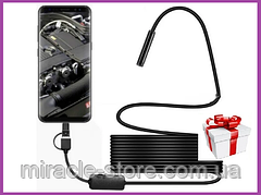 Камера эндоскоп с кабелем на 2 метра 7 мм USB micro