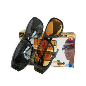 Антибликовые очки для вождения HD Vision 2 шт в комплекте