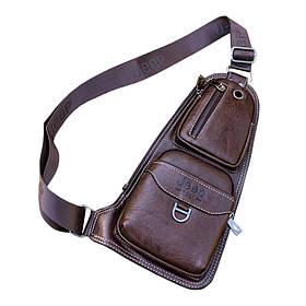 Мужская кожаная сумка-рюкзак Jeep buluo