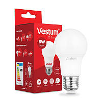 LED лампа  Vestum  / A-55  / 8 w / 4100k / e-27 /  Standard ( ГРУША )