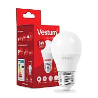 LED лампа  Vestum  / G-45  / 8 w / 3000k / e-27 /  Standard ( ШАРИК )