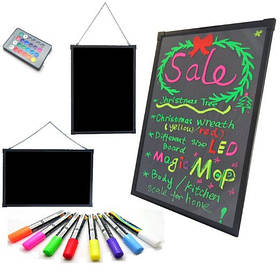Светящийся борд. LED доска Fluorecent Board  30*40 c фломастером и салфеткой