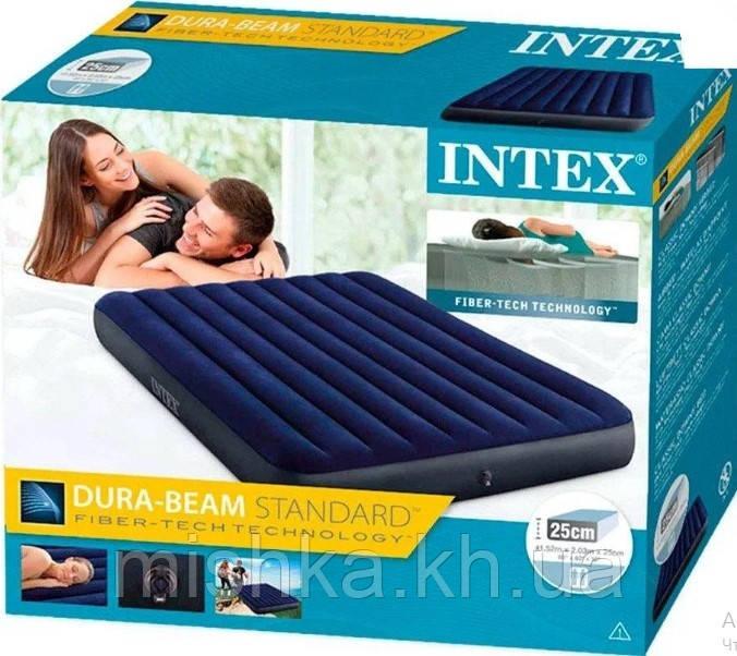 Надувной матрас Интекс, полуторный,152-203-25 см
