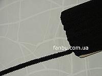 """Цветная тесьма """"шанель шубная"""" черная ,ширина 1.2см(1упаковка-50метров)"""