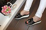 Шлепанцы женские черные Б568, фото 6