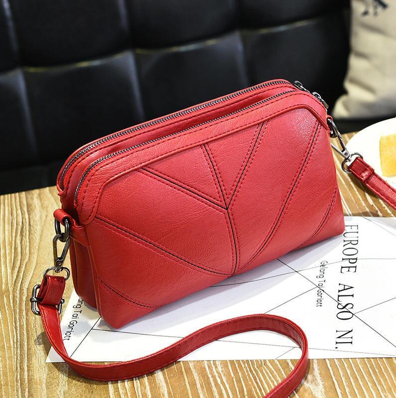 Женская сумка бордовая код 3-458