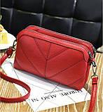 Женская сумка бордовая код 3-458, фото 2