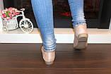 Туфли балетки женские бежевые замшевые Т1087, фото 3