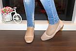 Туфли балетки женские бежевые замшевые Т1087, фото 4