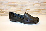 Мокасины туфли женские черные натуральная кожа Т1090, фото 2