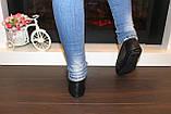 Мокасины туфли женские черные натуральная кожа Т1090, фото 4