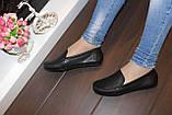 Мокасины туфли женские черные натуральная кожа Т1090, фото 6