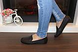 Мокасины туфли женские черные натуральная кожа Т1090, фото 7