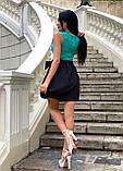 Платье женское черное с бирюзовым П166, фото 2