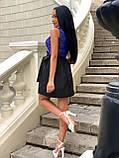 Платье женское черное с синим, фото 2