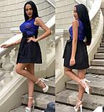 Платье женское черное с синим, фото 3