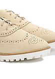 Туфли женские бежевые на шнурках Т013, фото 6