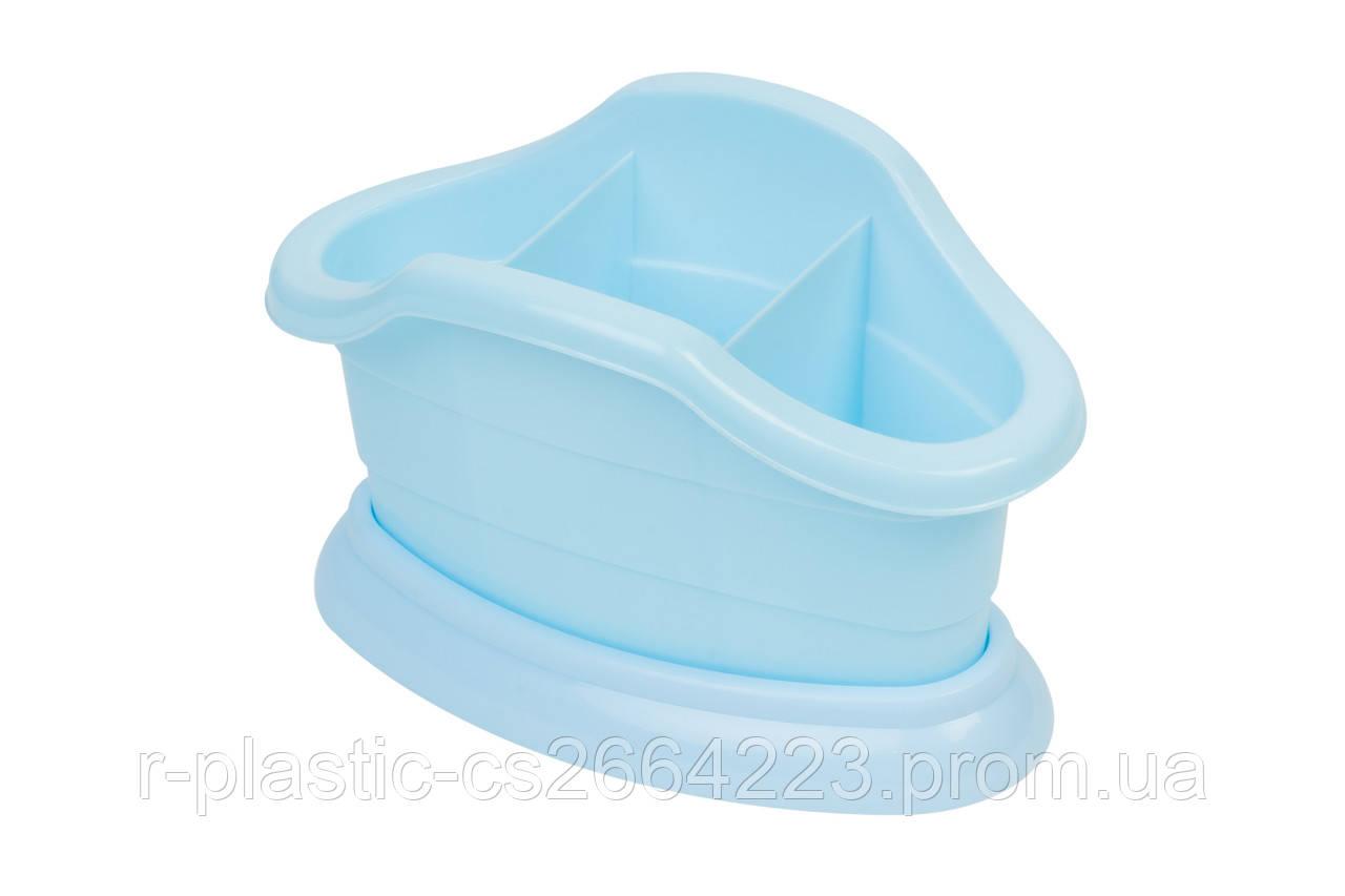 Подставка для вилок и ложек R-Plastic голубая