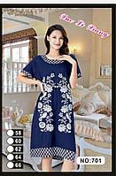 Женское летнее платье Батал 58-66 (масло) оптом в Одессе.