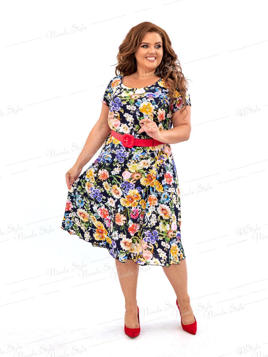 Шелковое платье с цветочным принтом 458 54
