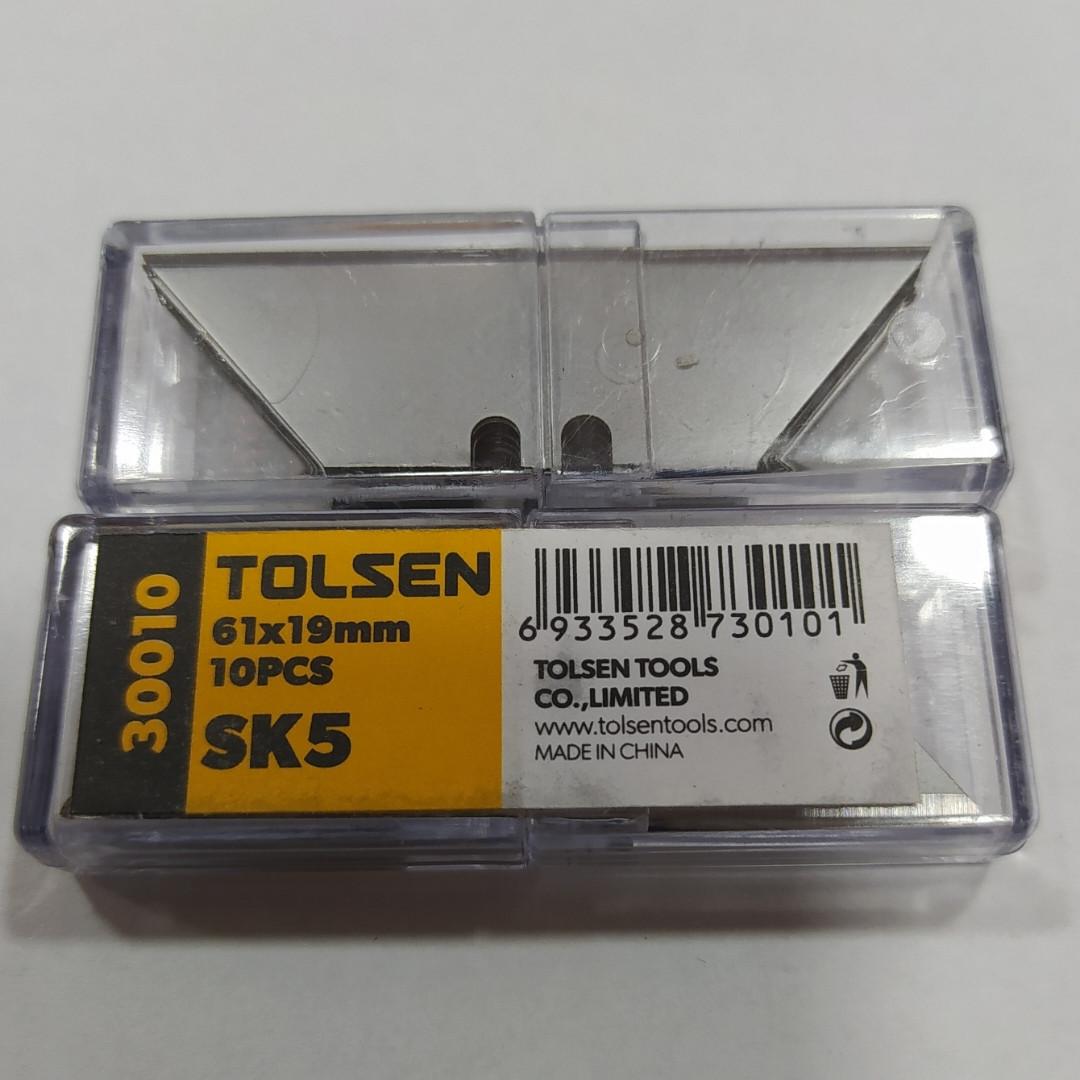 Леза трапеція Tolsen 30010 61х19х0.6мм Лезвие-трапеция Tolsen 30010