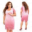 Розовое гипюровое платье 457-2 54, фото 4