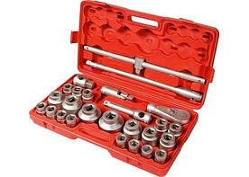 Набор торцевых головок МТХ квадрат 3/4-1 головки 21 х 65 мм 26 предметов пластиковый бокс (135399)