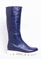 Сапоги из натуральной синей кожи №309-6, фото 1