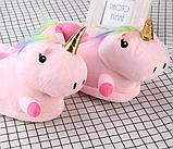 Женские тапочки игрушки Единороги розовые,36-40, фото 3