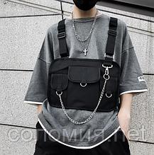 Черная сумка наплечная