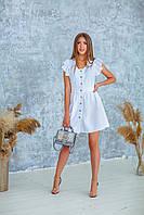 Платье женское летнее белое, бежевое, 42-44, 46-48