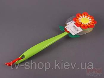 """Щетка для спины """"Flower power geranium"""""""