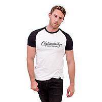 Футболка мужская с принтом, чоловіча футболка з принтом, Craft Белый