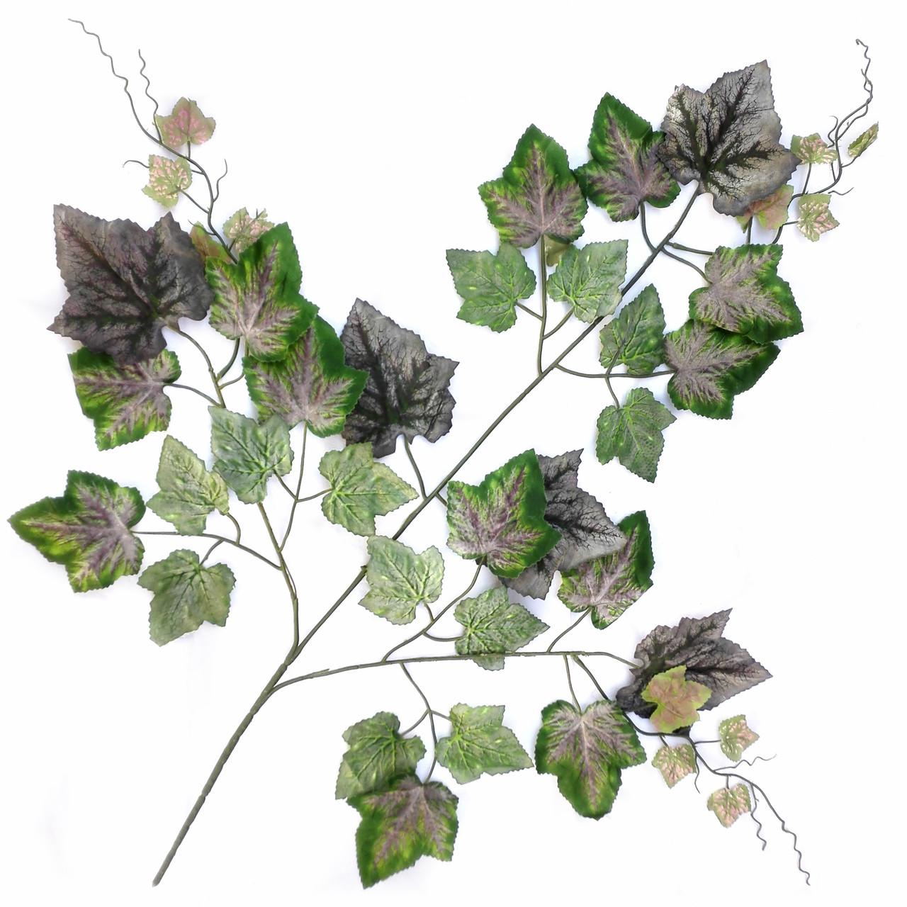 Ветка листьев винограда 60 см ( 6 шт в уп)