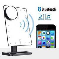 Зеркало для макияжа со светодиодным сенсорным экраном и Bluetooth динамиком