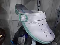 Сабо жіночі білі з зеленої підошвою, фото 1