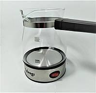 Электротурка стекло 0,5L электрокофеварка кофеварка электрическая турка 220В дисковый 600Вт Mylon KF-008