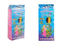 Карандаши цветные гибкие 12 цветов PRINCESS WORLD 7425