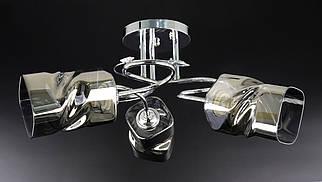 Люстра стельова на 3 лампочки 9339A/3-ch Хром 25х52х52 див.