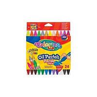 Пастель масляная Colorino трехгранная 24 цвета 36085PTR
