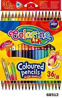 Карандаши цветные двухсторонние Colorino Duo Colors, 18 штук, 36 цветов Colorino (68512PTR)
