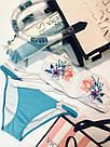 Купальник Бандо с вышивкой Victoria's Secret Лиф L/ Плавки M, Белый с голубым, фото 6
