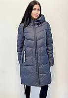 Женская куртка батальные размеры цвет графит. Сезон зима 2020-21